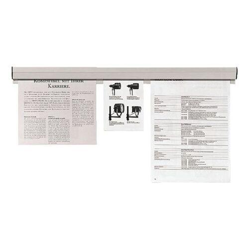 FRANKEN Papierklemmschiene 150 cm »PKS150«, grau