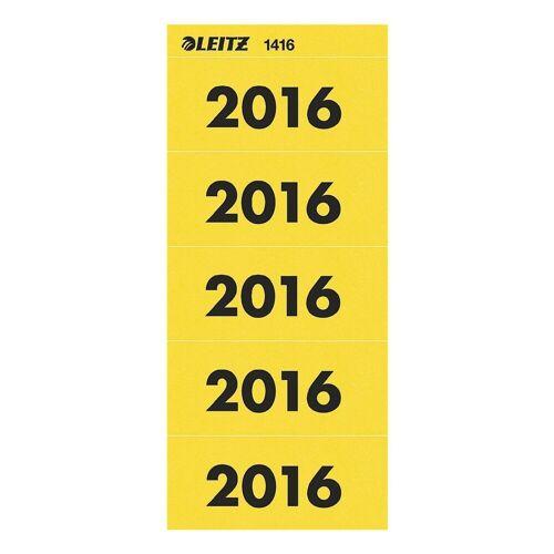 LEITZ Selbstklebende Inhaltsschilder 1416 »Jahreszahlen 2016«, gelb