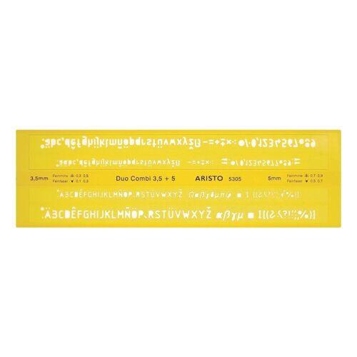 Aristo Schriftschablone »AR 5305 Duo-Combi«, orange