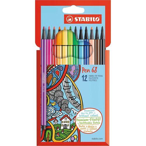 STABILO Filzstifte Pen 68, 12 Farben