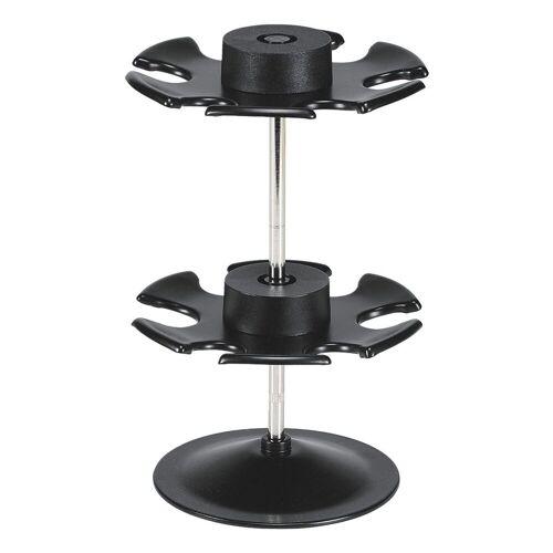 WEDO Stempelhalter rund für 12 Stempel, schwarz