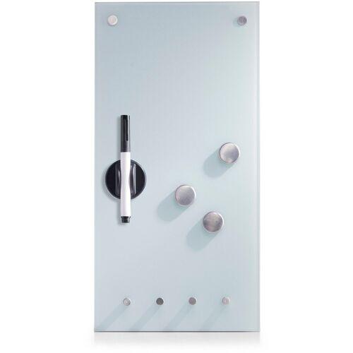 Zeller Present Magnettafel, mit Schlüsselhaken, weiß