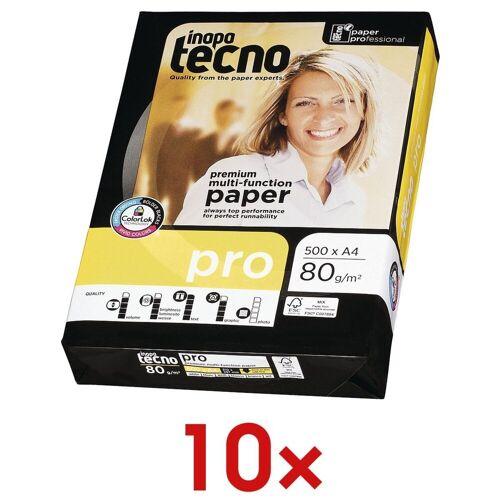 Inapa tecno 10x Multifunktionales Druckerpapier »Pro« 1 Set, weiß