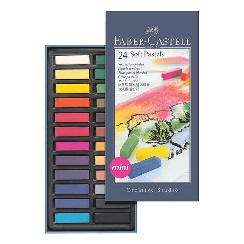 Faber-Castell 24er-Pack Softpastellkreide, bunt