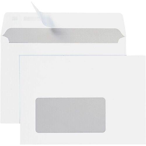 STEINMETZ Briefumschläge C6 mit Fenster und Haftklebung - 700 Stück »Umschlagbox«, weiß