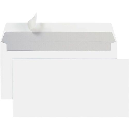 STEINMETZ Briefumschläge DL+ ohne Fenster mit Haftklebung - 700 Stück »Umschlagbox«, weiß