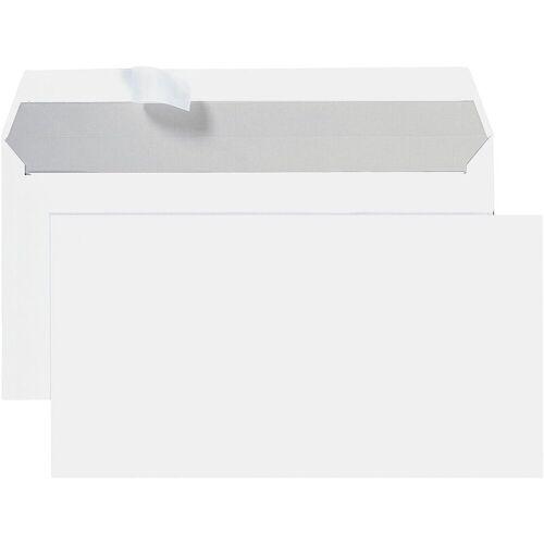 STEINMETZ Briefumschläge DL Max ohne Fenster mit Haftklebung - 700 Stück »Umschlagbox«, weiß