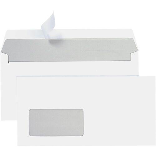 STEINMETZ Briefumschläge DL+ mit Fenster und Haftklebung - 700 Stück »Umschlagbox«, weiß
