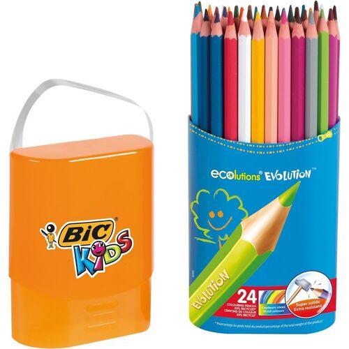 BIC Kids Evolutions Buntstifte in Stiftebox, 24 Farben