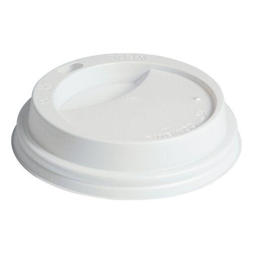 PAPSTAR 100 Deckel 8 cm für Trinkbecher »To Go«, weiß