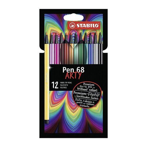 STABILO Filzstifte Pen 68 ARTY, 12 Farben