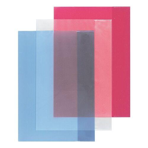 Herlitz Durchsichtige Hefthüllen für A4, mehrfarbig