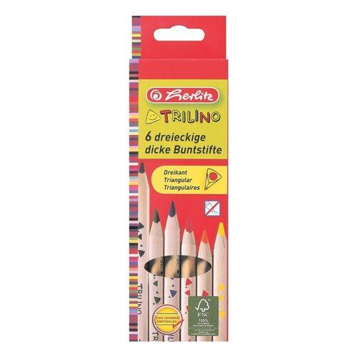 6er-Pack Holz-Buntstifte »Trilino«