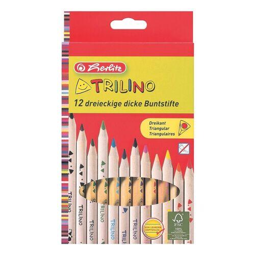 12er-Pack Holz-Buntstifte »Trilino«