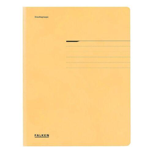 Falken Sammelmappe A4 200 Blatt, gelb