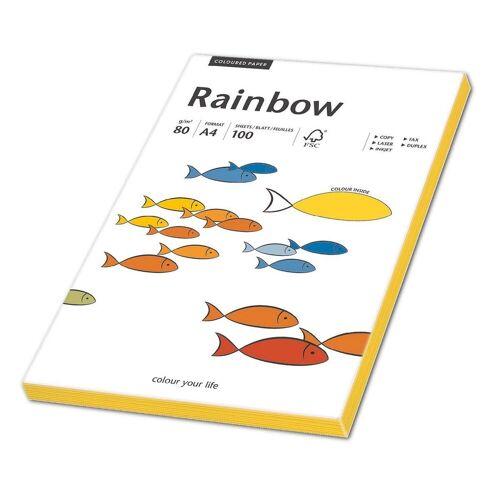 PAPYRUS Farbiges Papier »Rainbow Neon«, neongelb