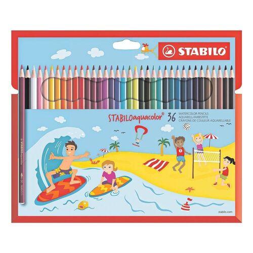 STABILO Buntstift »aquacolor«, (36-tlg), wasservermalbar