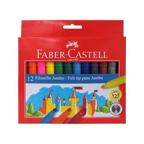 Faber-Castell Filzstifte Jumbo, 12 Farben