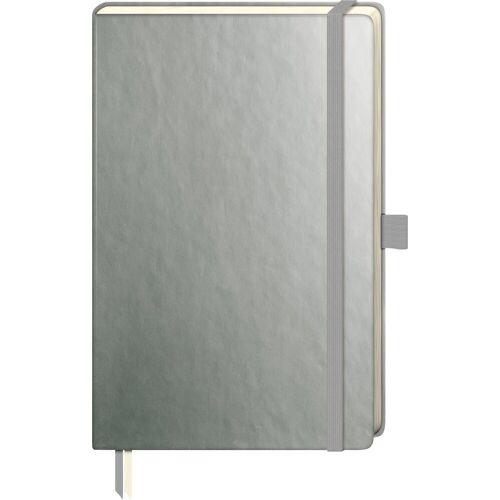 VBS Notizbuch »Notizbuch«, 192 Seiten gepunktet, Silber-Metallic