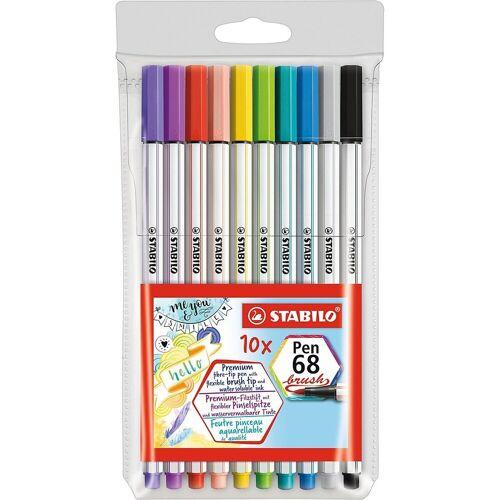 STABILO Filzstift »Premium-Filzstifte Pen 68 brush, 10 Farben«