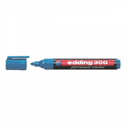 EDDING Permanentmarker »300«, wisch- und wasserfest, blau