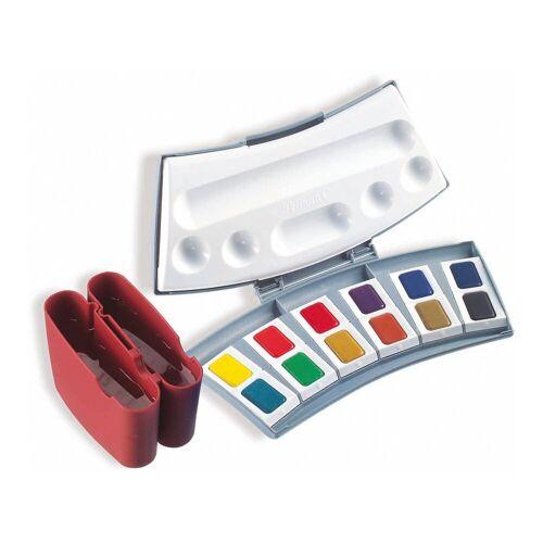 Pelikan Aquarellmalkasten, 12 Farben, inkl. Zubehör