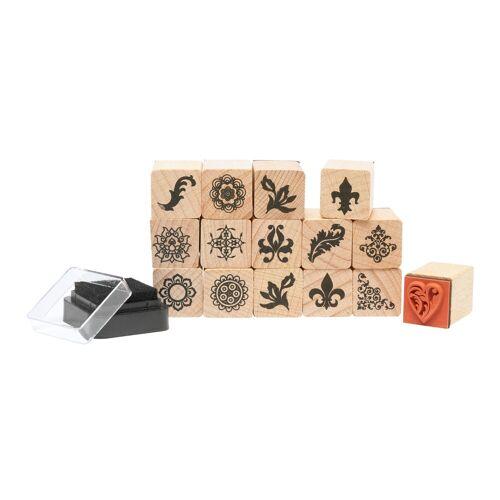 Rico-Design Verlag Stempel »Ornamente & Florale«, 16 Teile