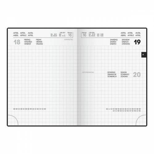 BRUNNEN Taschenkalender, für 2021, 1 Seite = 1 Tag