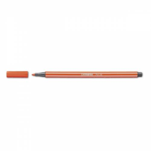 STABILO Filzstift »Pen 68«, (1-tlg), wasservermalbar, rot