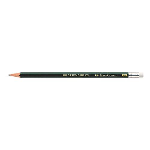 Faber-Castell Bleistift mit Radiergummi »9000«, grün