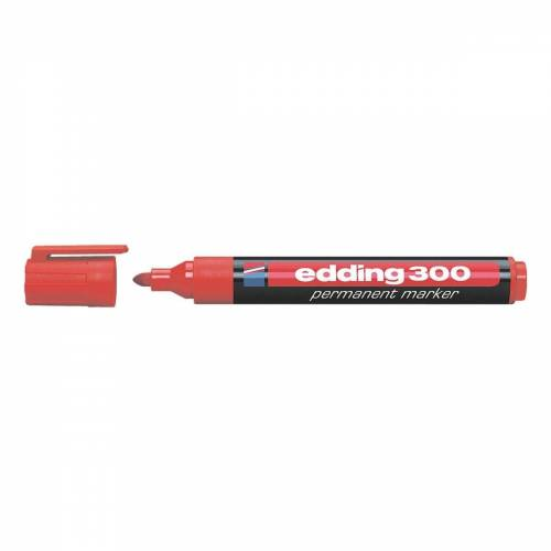 EDDING Permanentmarker »300«, wisch- und wasserfest, rot