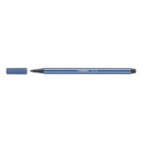 STABILO Filzstift »Pen 68«, (1-tlg), wasservermalbar, blau