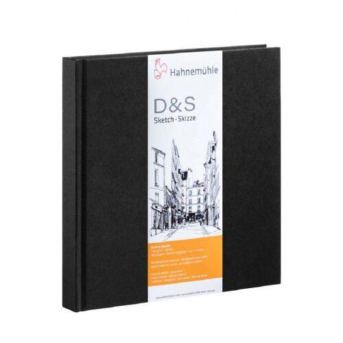 Hahnemühle Photo Skizzenbuch »Skizzenbuch D&S, 140x140mm, 160 Seiten«, Zeichenbuch naturweiß, für Bleistift und Kohle, säurefrei, Zeichnen