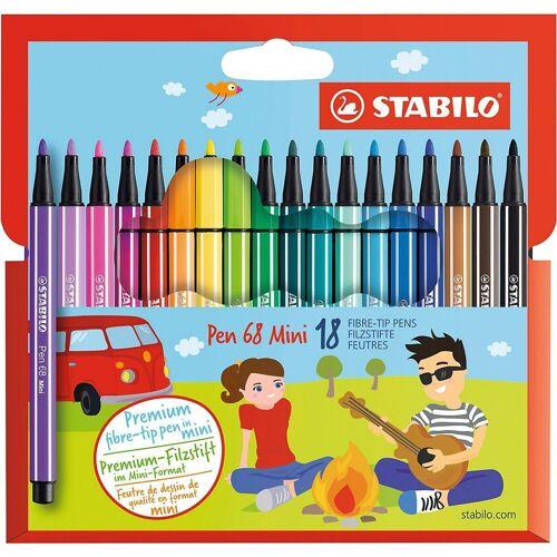 STABILO Filzstift »Premium-Filzstifte Pen 68 Mini, 18 Farben«