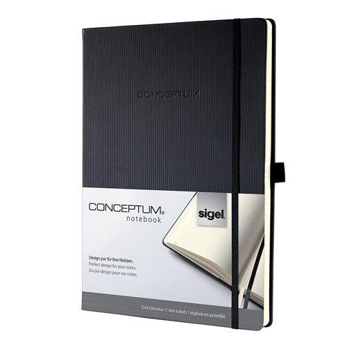 Sigel Notizbuch, Conceptum CO108 Notizbuch A4 Hardcover dotted Kladde Notizheft Buch
