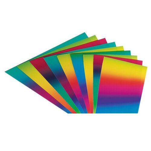 Folia Motivpapier »Regenbogen Tonkarton«, 10 Stück