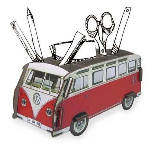 WERKHAUS® Schreibtischaufsatz »Werkhaus Stifteköcher VW Bus Bulli Rot T1 WE2008«