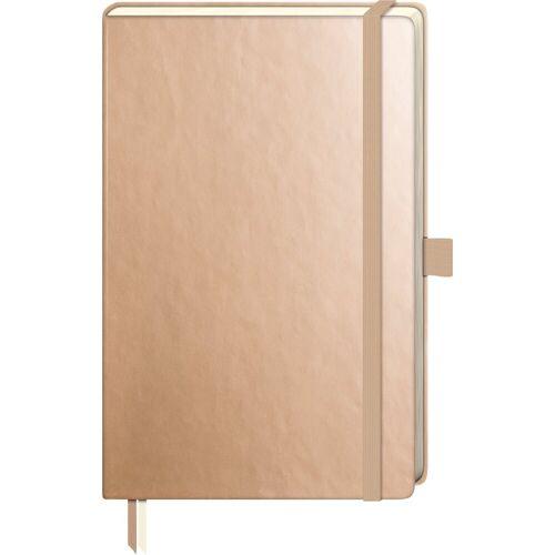 VBS Notizbuch »Notizbuch«, 192 Seiten gepunktet, Gold-Metallic