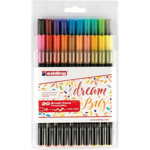 """EDDING Pinselstifte """"1340 Brush Lettering"""" 20er-Set"""