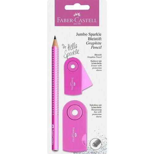 Faber-Castell Bleistift »Bleistiftset Jumbo Sparkle pearl türkis, 2-tlg.«, rosa-kombi