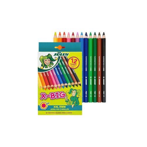 JOLLY Buntstift »X-BIG Buntstifte, extra dick - 12er Pack«, (12-tlg), bestens geeignet für Malanfänger