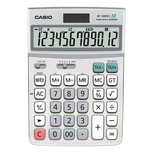 Casio Taschenrechner »DF-120 eco«, mit Großformat-Tastatur