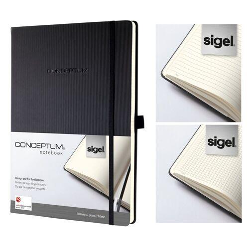Sigel Notizbuch, Notizbuch Conceptum Hardcover Notizheft Kladde Notiz Buch Heft schwarz