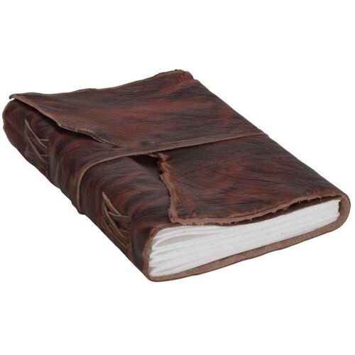 Gusti Leder Notizbuch »Alice«, Buch Notizblock Notizbuch DIN A5 Braun Leder