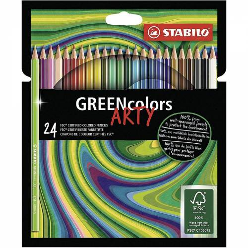 STABILO Buntstift »Buntstifte GREENcolors ARTY, 24 Farben«