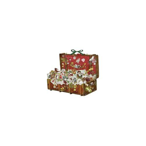 Coppenrath Schmuck-Adventskalender »Nostalgischer Weihnachtskoffer, Adventskalender«