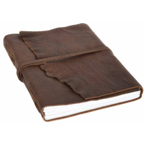 Gusti Leder Notizbuch »Violetta«, Buch Notizbuch Skizzenalbum Gästebuch DIN A4 Braun Leder