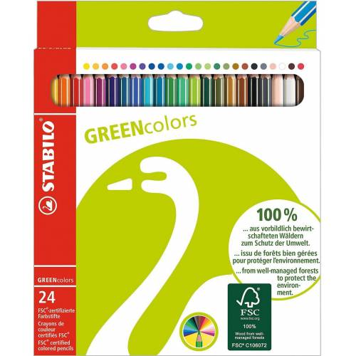 STABILO Dekorierstift »GREENcolors Buntstifte, 24 Farben«