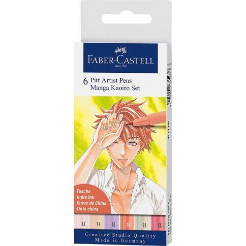 Faber-Castell Dekorierstift »Pitt Artist Pen Tuschestift Manga Kaoiro, 6 Farben«