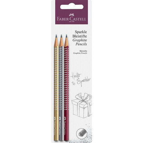 Faber-Castell Bleistift »Bleistiftset Jumbo Sparkle pearl Herbst, 3-tlg.«